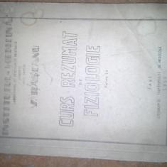 CURS DE FIZIOLOGIE DE V RASCANU 1956 240 PAG/MEDICINA IASI - Curs Medicina