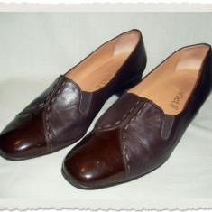 Pantof dama Made in Italia din piele Starlet Italia masura 39, Culoare: Grena, Piele naturala