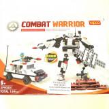 Robot de construit tip LEGO Transformers, 169 piese, 1 minifigurina, calitate excelenta, compatibil, Combat Warrior Xipoo Blocks 90001, NOU