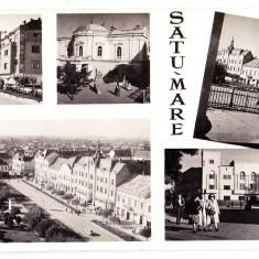 Carte postala multipla SATU MARE circulata in 1960