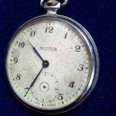Ceas de buzunar rusesc Molnija, URSS, pentru reconditionare