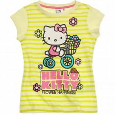 Tricou maneca scurta 4-10 ani - Hello Kitty - art 87700 galben, Marime: Alta