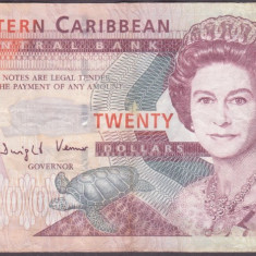 (2) BANCNOTA EASTERN CARIBBEAN - 20 DOLLARS