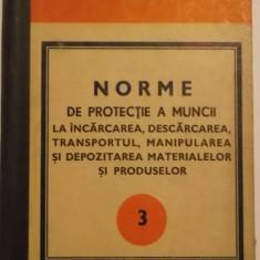 Norme de protectia muncii la incarcarea, descarcarea, transportul, manipularea si depozitarea materialelor si produselor (1973) - Carte Dreptul muncii