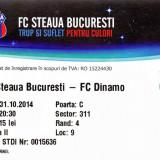 Bilet meci fotbal Steaua Bucuresti - Dinamo Bucuresti 31.10.2014