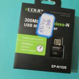 Adaptor wireless 300Mbps Mini USB 2.0 Wifi Wireless LAN 2.4G 802.11n/g/b placa de retea wireless 300Mbps placa retea 300Mbps Wifi Wireless LAN 2.4G
