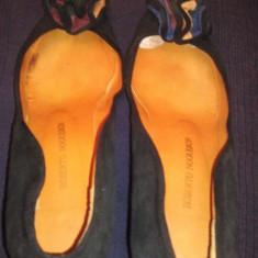 pantofi negri piele intoarsa dama ROBERTO NOGUERON