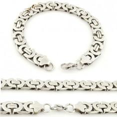 Set Lant si Bratara din Inox ( Otel Inoxidabil ) BSS-596-NS-253 - Set bijuterii inox