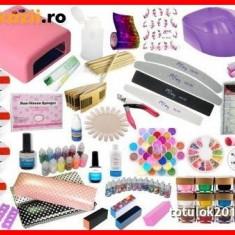 Kit set unghii gel manichiura lampa uv pila + CADOU - Unghii false BeautyUkCosmetics