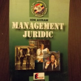 Carte Management - MANAGEMENT JURIDIC - ION AVRAM
