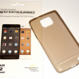 Husa Protectie Silicon Ultra Slim 0, 3 mm Samsung Galaxy S2 I9100 + Folie CADOU! - Husa Telefon Samsung, Maro, Silicon, Husa