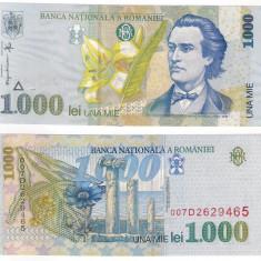 Romania 1998 - 1000 lei, filigran mic