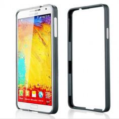 Bumper Telefon, Samsung Galaxy Note 3, Gri - Husa bumper gri din aluminiu Samsung Galaxy Note 3 N9000 + folie ecran + expediere gratuita Posta - sell by PHONICA