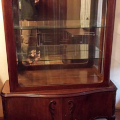 Mobila veche din lemn masiv stil chippendale - Mobilier, Sufragerii si mobilier salon, 1900 - 1949