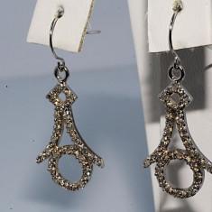 Cercei aur 10k cu diamante