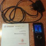 Telefon Mobil Sagem my411v Blocat Vodafone Editie Limitata, Negru, <1GB, Single SIM, Fara procesor