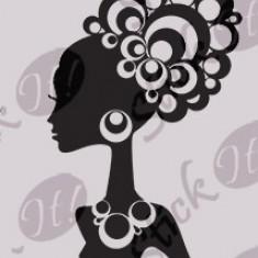 Tapet - Girl_Tatuaj de perete_Sticker Decorativ_WALL-561-Dimensiune: 25 cm. X 15 cm. - Orice culoare, Orice dimensiune
