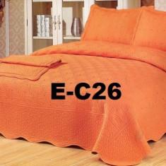 Cuvertura de pat bumbac brodat EC26