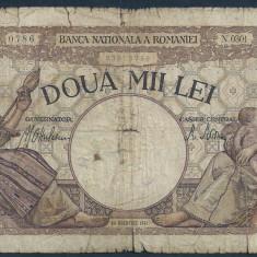 ROMANIA 2000 2.000 LEI 1941 [37] filigram Traian