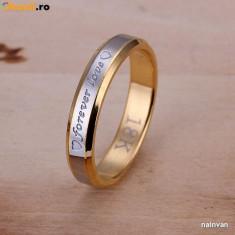 Inel placate cu aur - Inel inscriptionat