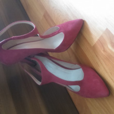 Incaltaminte de firma - Pantof dama Dolce&gabanna, Marime: 37, 38, Culoare: Galben, Bej, Fuchsia, Maro, Piele naturala