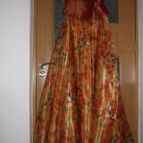 Rochie de seara, Maxi - COMPLEU DE OCAZIE corset cu fusta, din organza