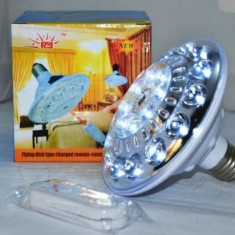 Bec Supereconomic 22 LED-uri cu Acumulator si Telecomanda