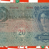 Bancnota 20 korona 1913-TIMBRU SPECIAL ROMANIA-seria-2342