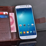 Husa / toc piele fina Samsung Galaxy S4 lux, tip flip cover portofel,MARO CONIAC