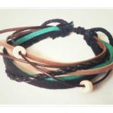 Bratara multistring - Handmade - snururi de piele