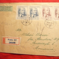 Plic-2 serii -25 Ani Lenin, cu vigneta speciala, stamp. Sosire Ambulanta1949