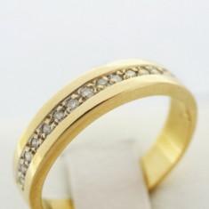 P - Inel aur alb 18k, 750, diamante, 4.12 grame, Culoare: Galben