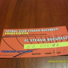 Invitatie Steaua - ND Gorica - Bilet meci