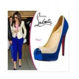 Pantofi piele Christian Louboutin MAGO - PE STOC - Super Promotie!!! - Pantof dama Christian Louboutin, Marime: 39, Culoare: Albastru, Piele naturala