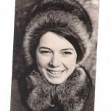 Foto veche 1968 - 10X7cm - FEMEIE CU CACIULA DE BLANA - 2+1 gratis - RBK8880