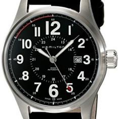 Hamilton Men's H70615733 Khaki Officer | 100% original, import SUA, 10 zile lucratoare a32207 - Ceas barbatesc Hamilton, Mecanic-Automatic