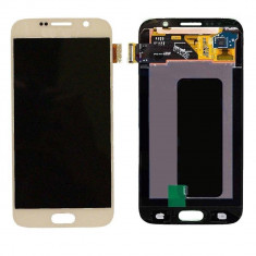 Ansamblu LCD Display Laptop Touchscreen touch screen Samsung Galaxy S6 Gold Auriu ORIGINAL - Display LCD