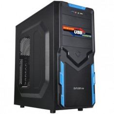 Carcasa PC - Carcasa DeLux ME878, middletower ATX, neagra