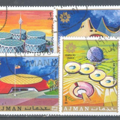 Ajman Expozitia OSAKA'70 serie stampilata 1972 - Timbre straine, An: 1970, Arta