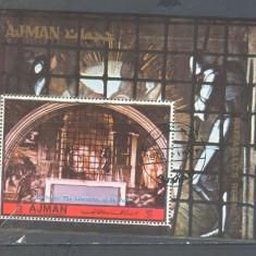 Ajman Pictura Rafael colita stampilata 1972 - Timbre straine, Arta