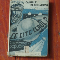 Carte - Biblioteca pentru toti - Ce este Cerul ? de Camille Flammarion / 272 pag - Carte veche