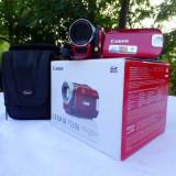 Camera Video Canon Legria FS306 Red, Card Memorie, CCD, 30-40x, Intre 2 si 3 inch