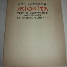 Carte de lux - MIORITA-V.ALECSANDRI/ GRAVURI MARCEL OLINESCU, EXEMPLAR 99/ SEMNAT, 1940