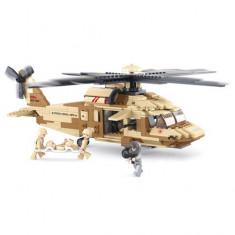Set Constructie Sluban Black hawk helicopter - Elicopter de jucarie