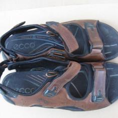 ECCO- Sandale barbati, piele, 46, Receptor Technology, 15 ron Fan Curier!, Culoare: Maro