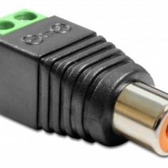 Adaptor RCA Mama la Bloc Terminal 2 pini - Cablu Camera Video
