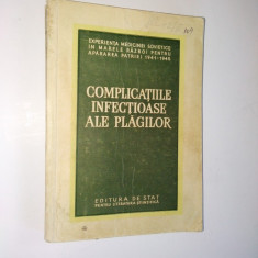 Complicatiile infectioase ale plagilor - 1954 - Carte Boli infectioase