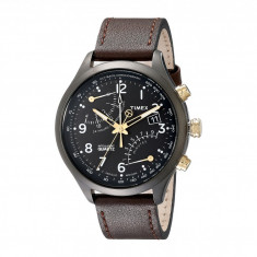 Ceas Timex Intelligent Quartz Fly Back Chronograph Leather Strap Watch | 100% original, import SUA, 10 zile lucratoare - Ceas barbatesc