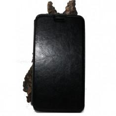 Husa Asus Zenfone 6 piele ecologica neagra - Husa Telefon Asus, Negru