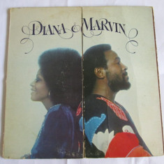 VINIL L.P. DIANA ROSS & MARVIN GAYE, MOTOWN HOLLYWOOD 1973 - Muzica R&B Altele